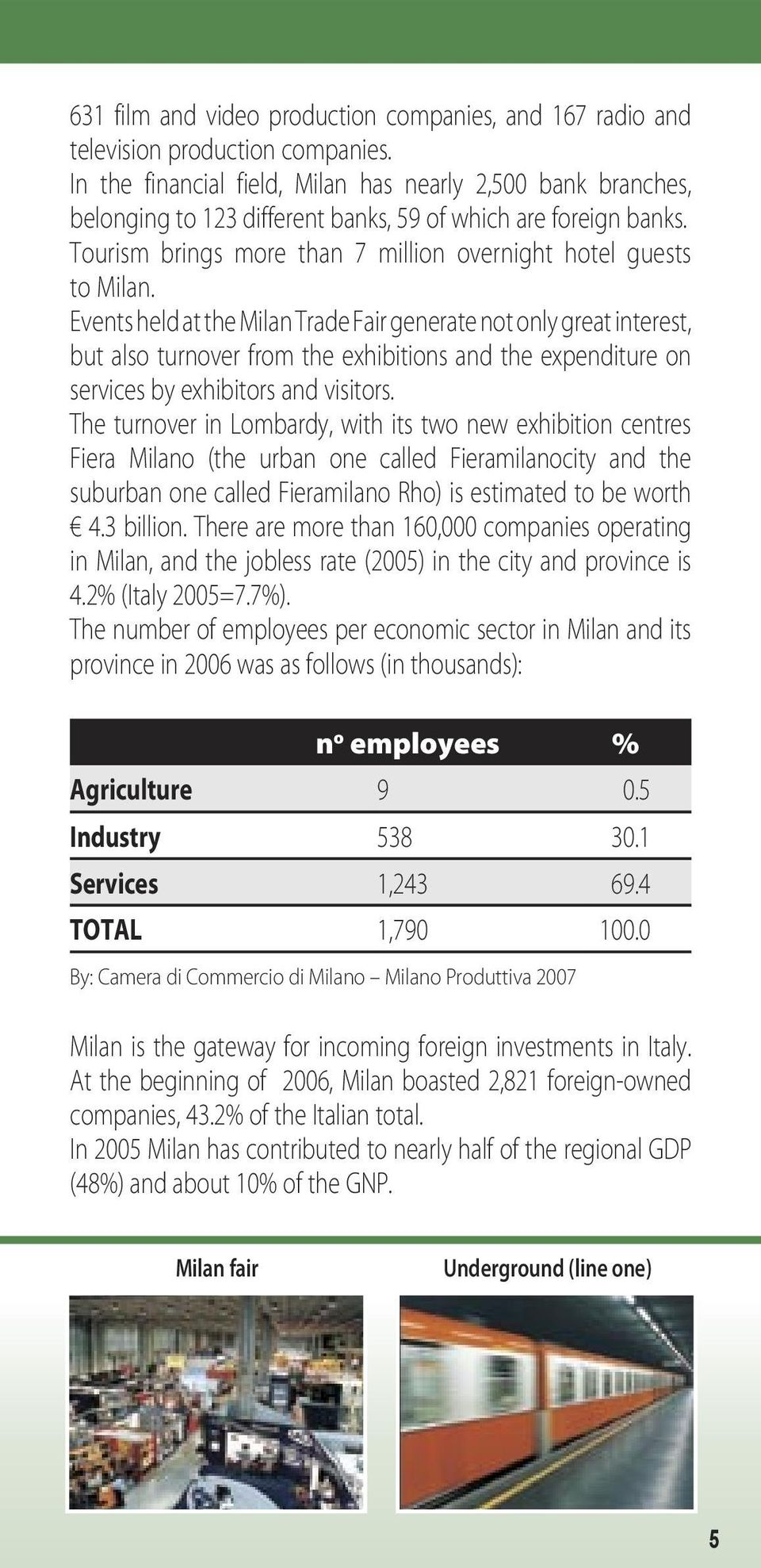 Events held at the Milan Trade Fair generate not only great interest, but also turnover from the exhibitions and the expenditure on services by exhibitors and visitors.