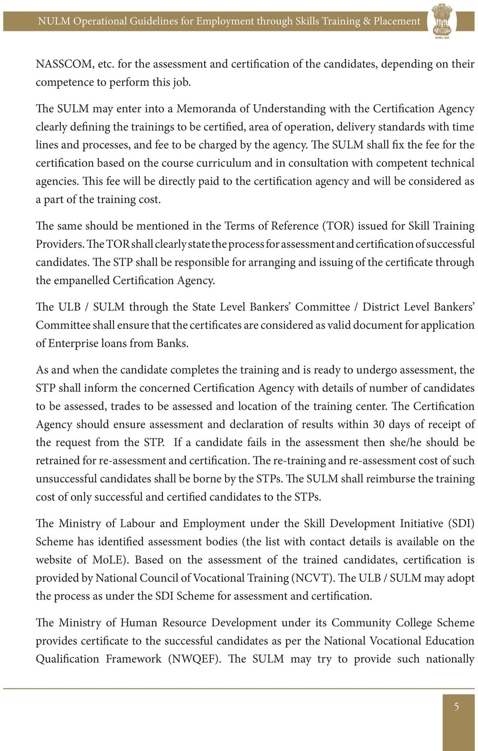 employment through skills training placement pdf and fee to be charged by the agency the sulm shall fix the fee for