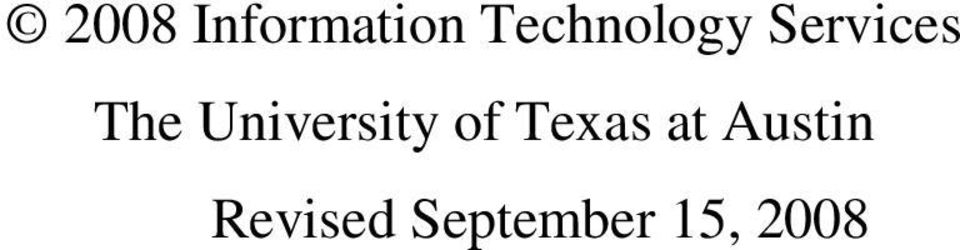 University of Texas at