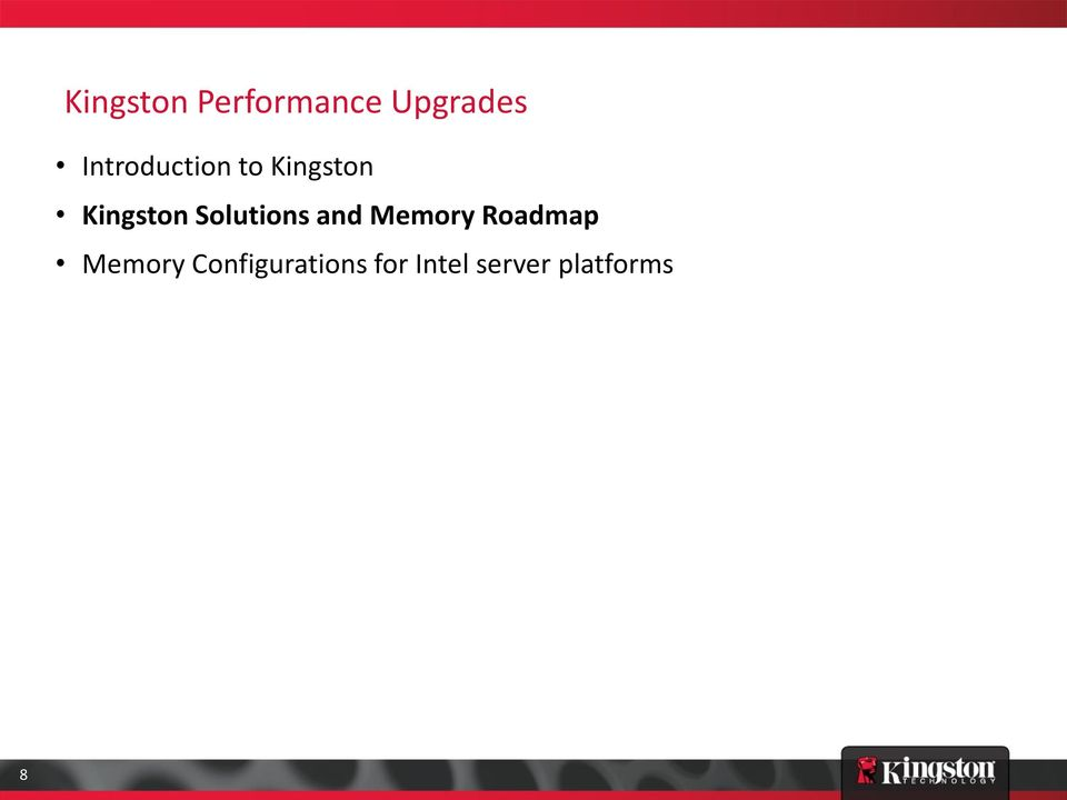 Solutions and Memory Roadmap Memory