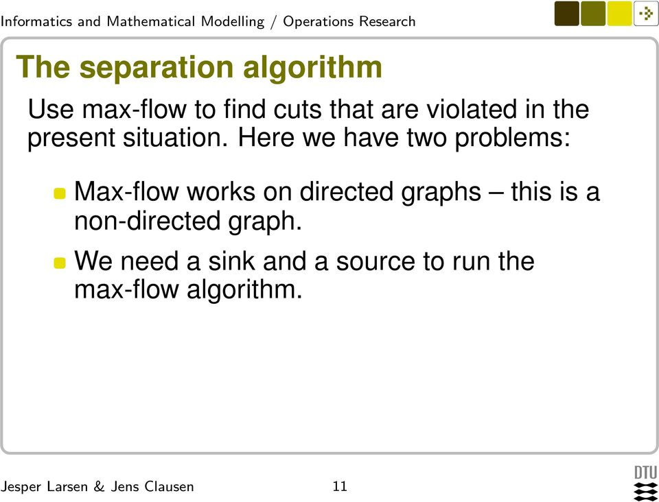 Here we have two problems: Max-flow works on directed graphs