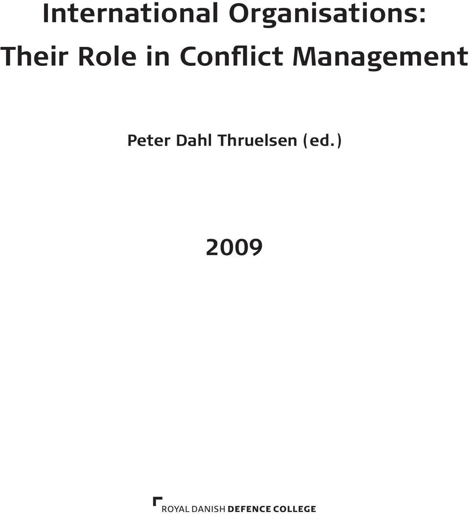 Role in Conflict