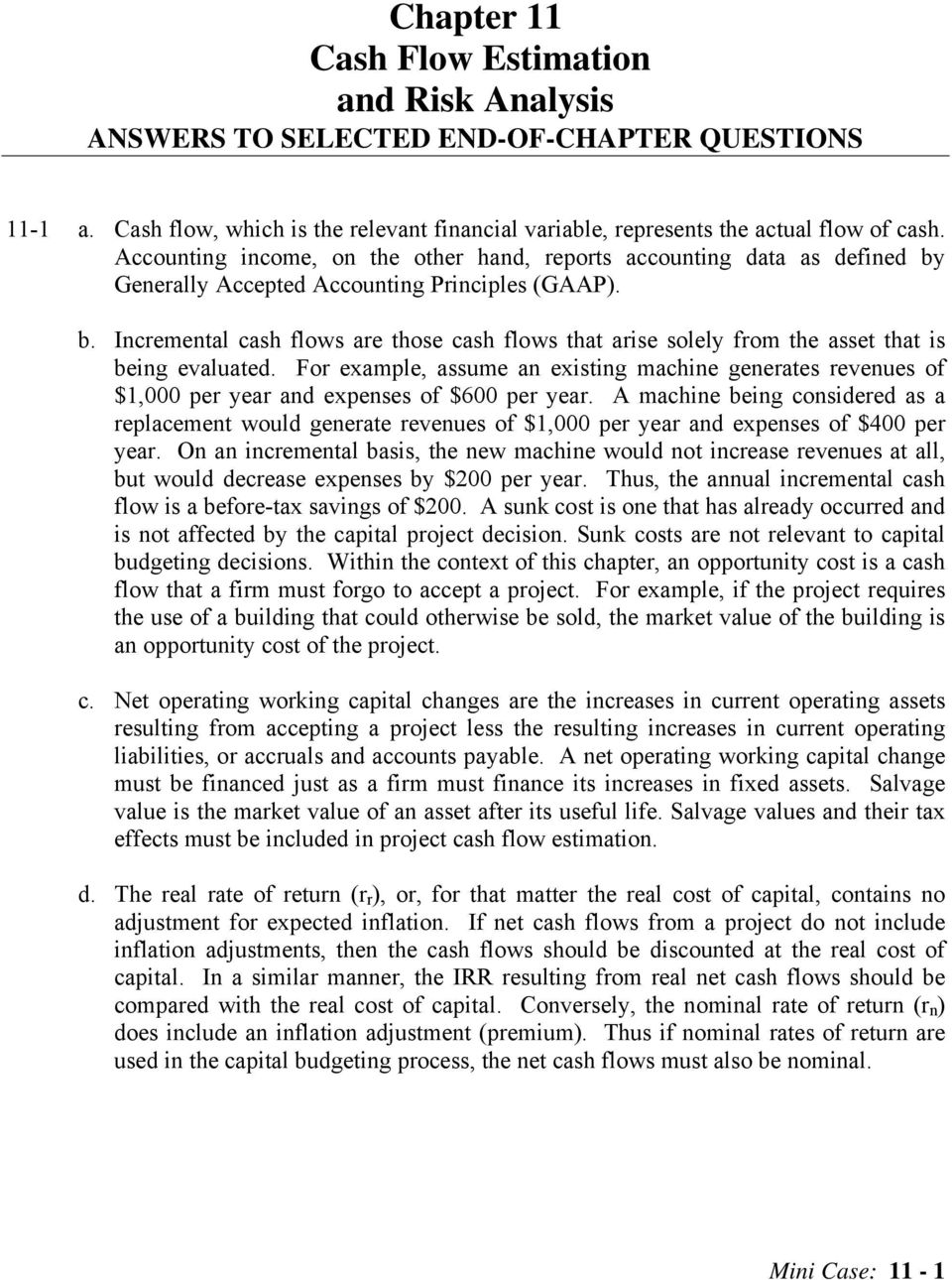 capital budgeting simulation and mini case Capital budgeting simulation and mini-case note: this is an application of capital budgeting that integrates the - answered by a verified financial professional.