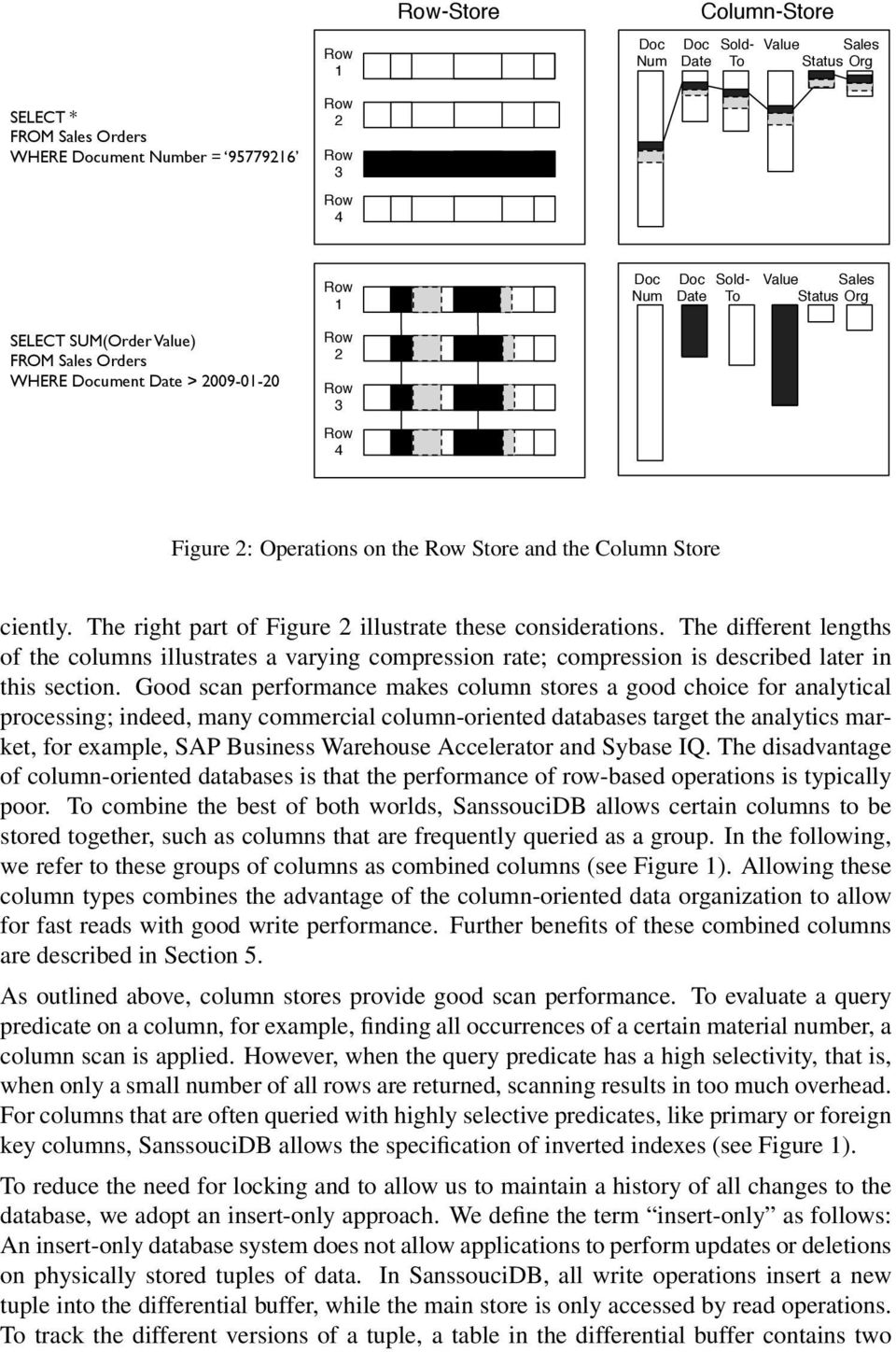 The right part of Figure 2 illustrate these considerations. The different lengths of the columns illustrates a varying compression rate; compression is described later in this section.
