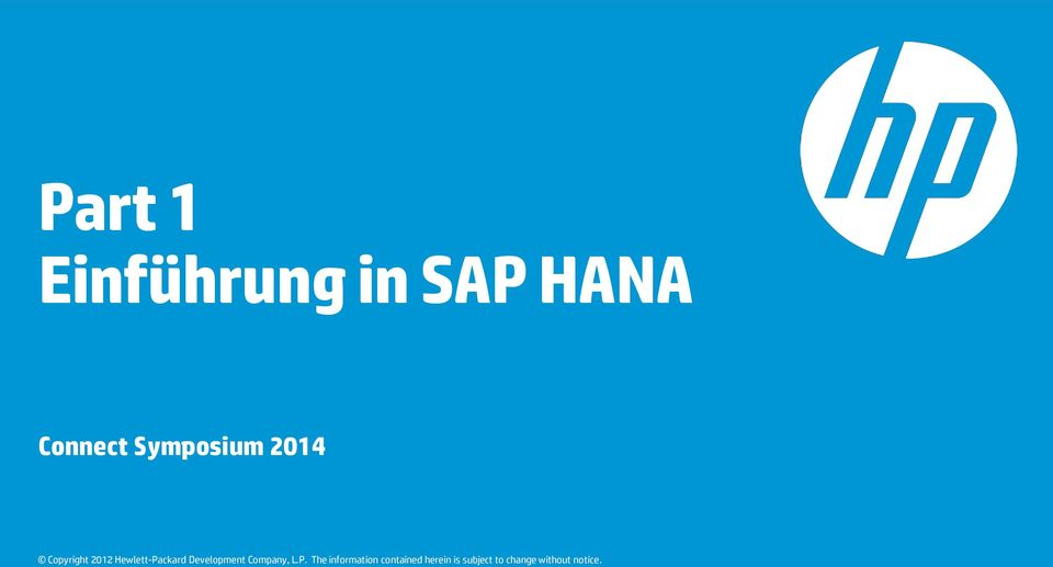 in SAP HANA