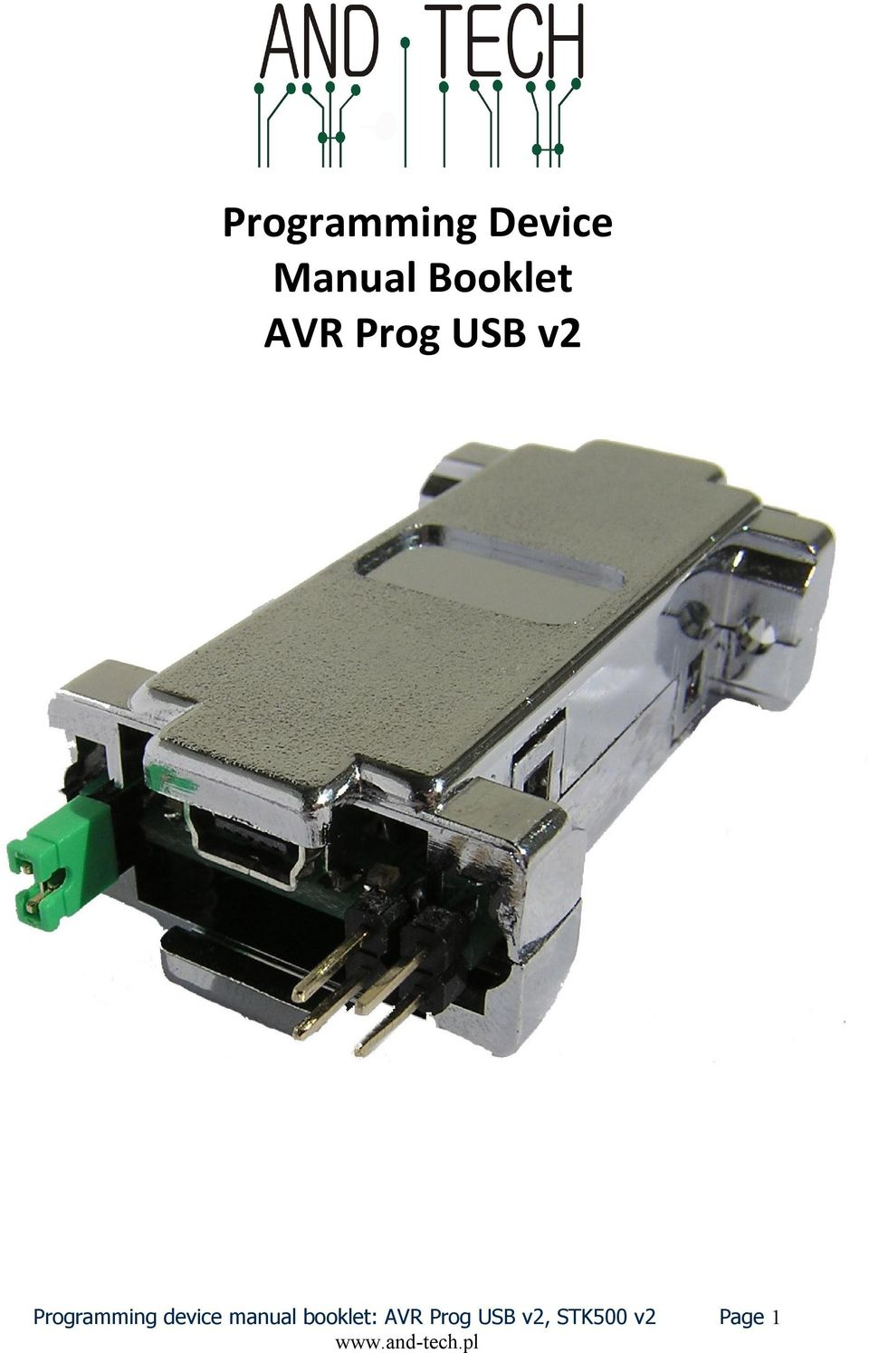 device manual booklet: AVR Prog