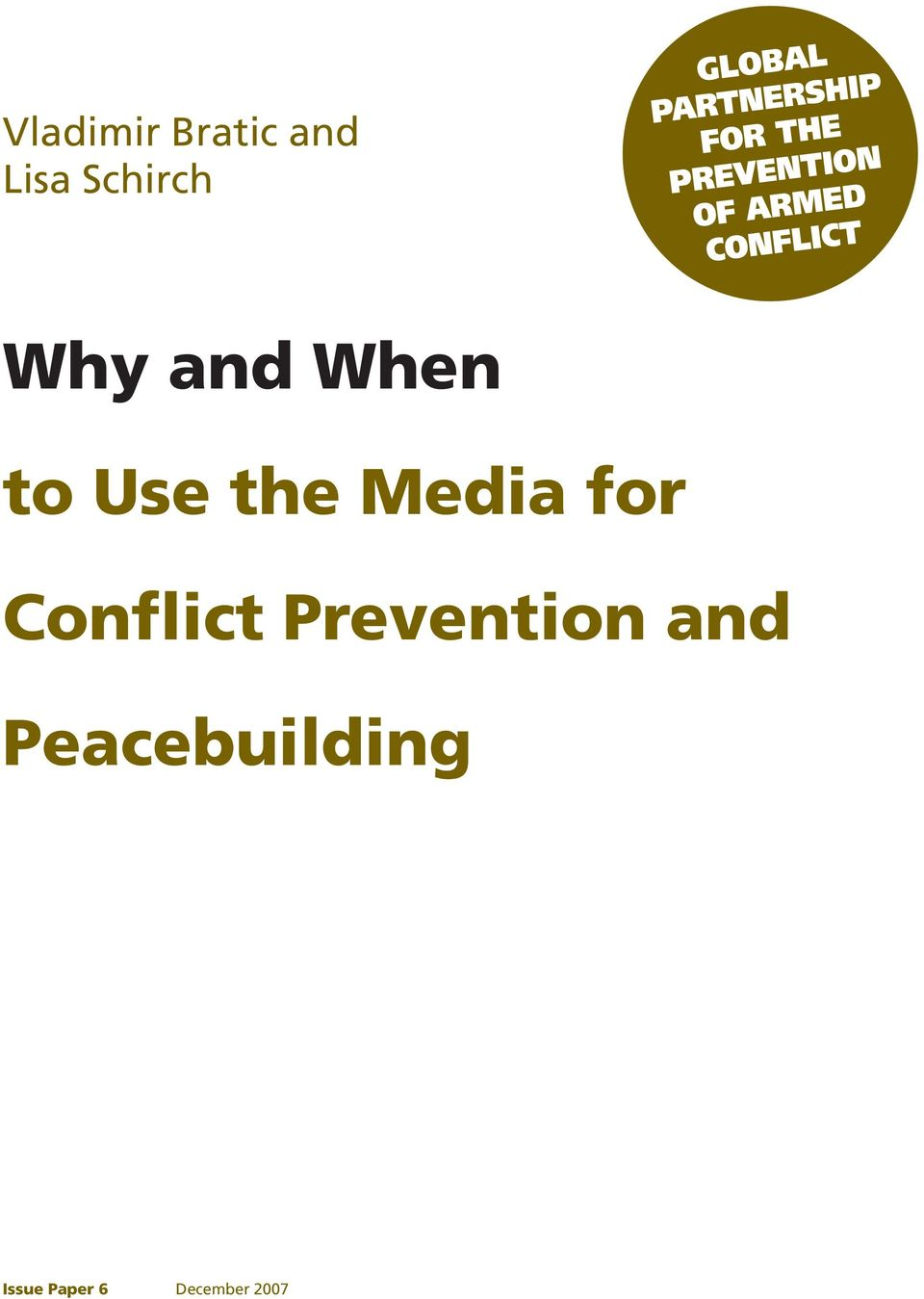 for Conflict Prevention and