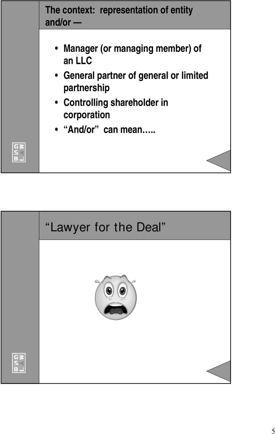 general or limited partnership Controlling