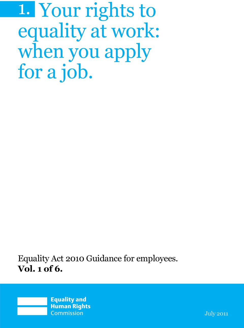 Equality Act 2010 Guidance for