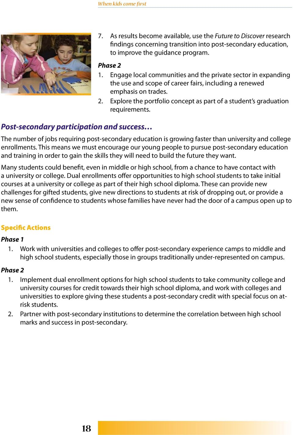 Explore the portfolio concept as part of a student s graduation requirements.