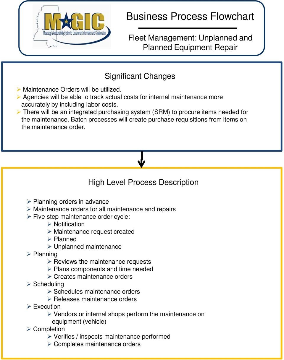 Business process flowchart fleet management packet description there will be an integrated purchasing system srm to procure items needed for the 3 business process flowchart fleet management nvjuhfo Image collections