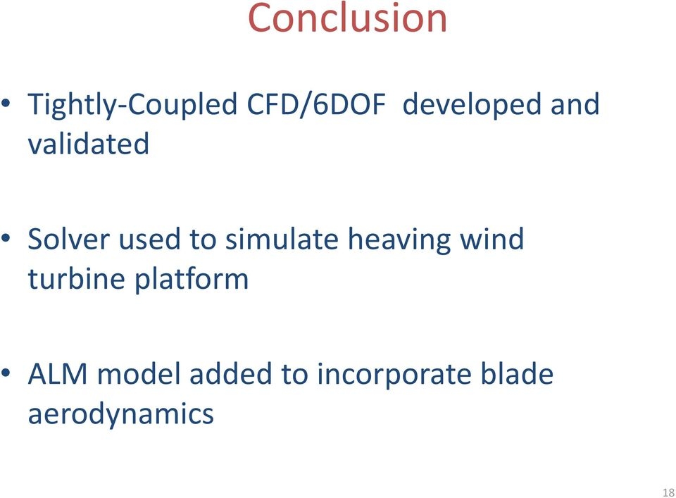 simulate heaving wind turbine platform