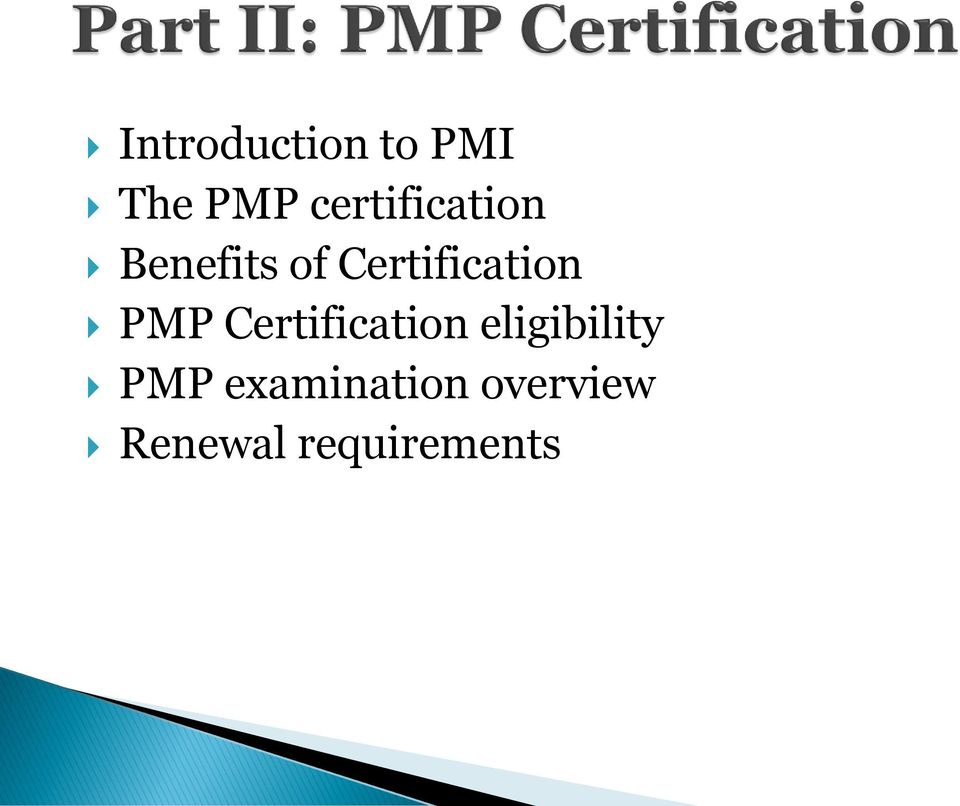 Certification PMP Certification
