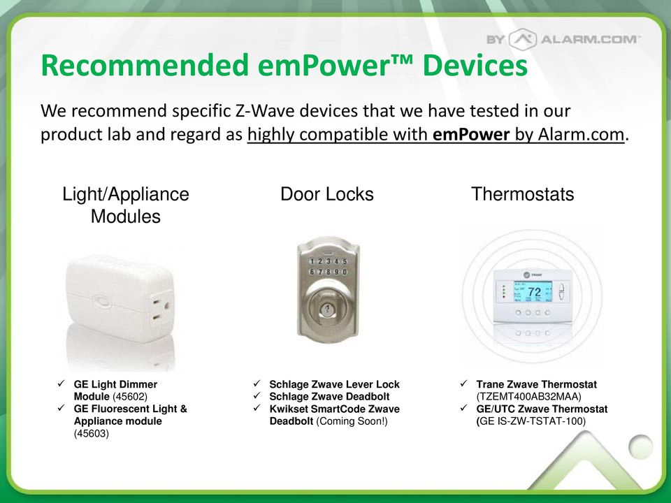 What Is Empower Lights Appliances Thermostats Door Locks