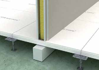 System accessories Cavity barriers Three different types of cavity barriers can be installed to meet different requirements in the hollow floor area.