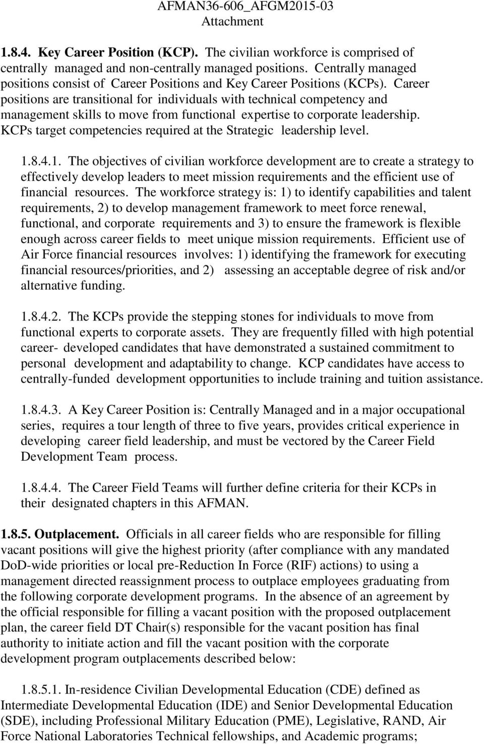 department of the air force pdf career positions are transitional for individuals technical competency and management skills to move from functional