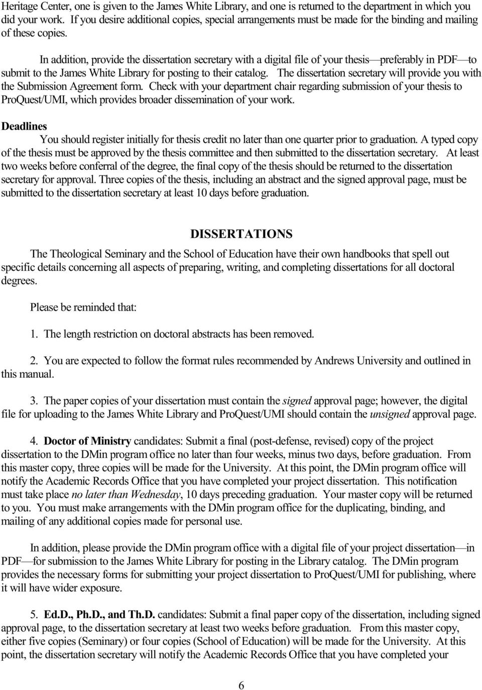 Applied Dissertation Procedures Manual