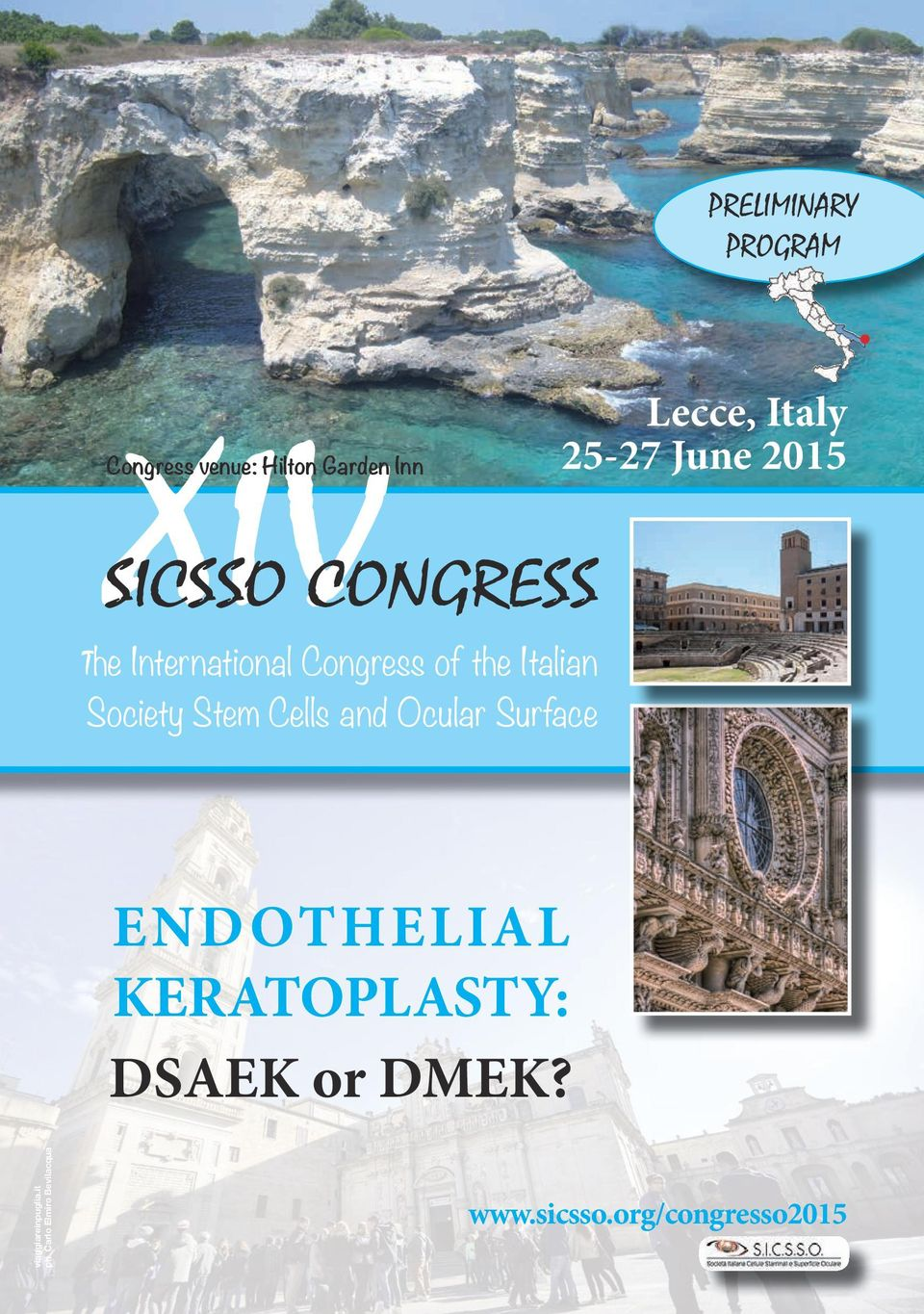 Surface Lecce, Italy 25-27 June 2015 ENDOTHELIAL KERATOPLASTY: DSAEK or