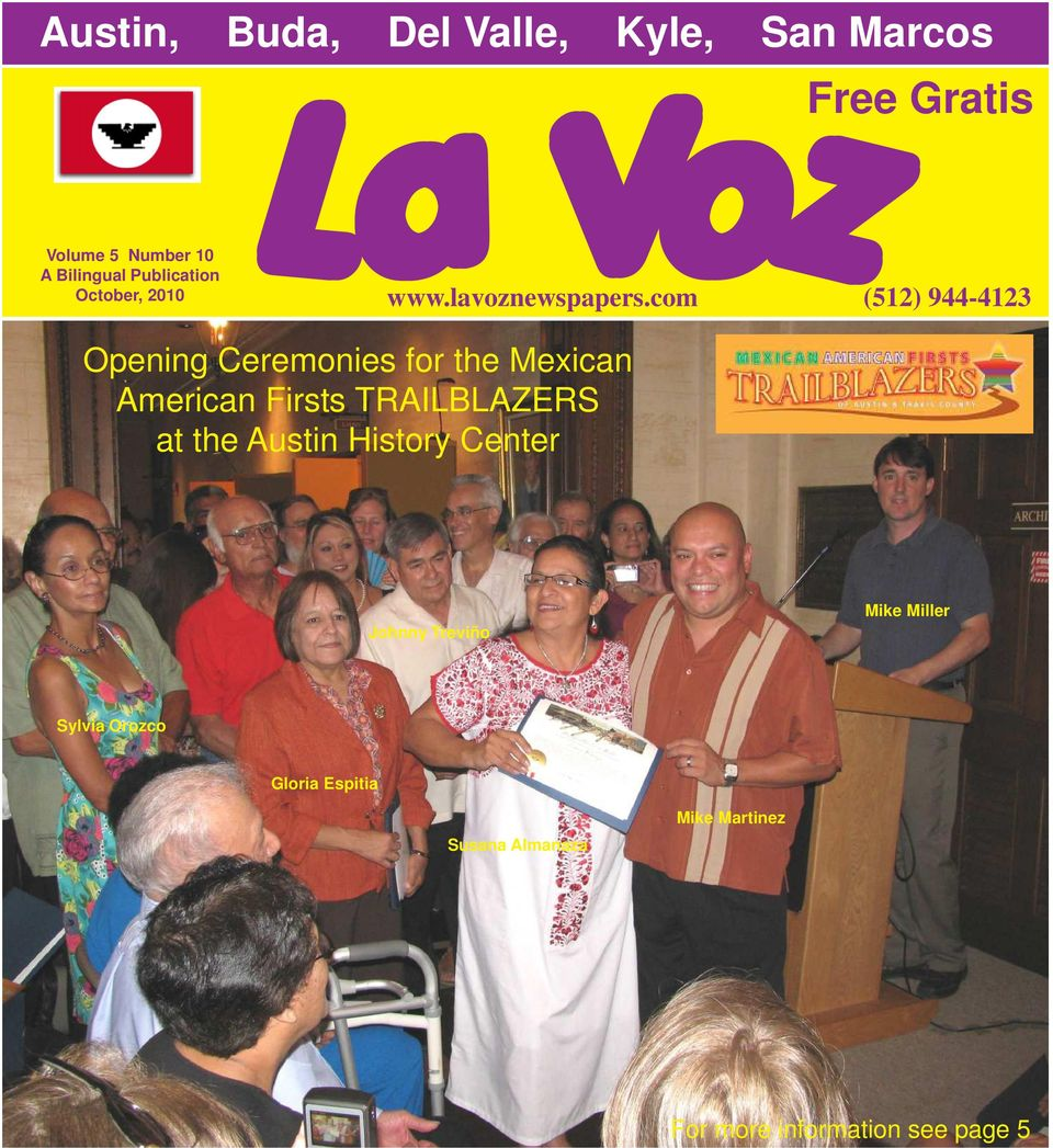 Austin History Center Free Gratis www.lavoznewspapers.