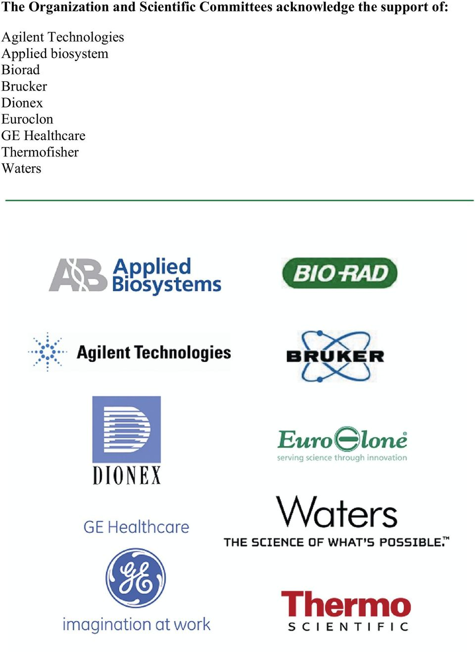 Technologies Applied biosystem Biorad