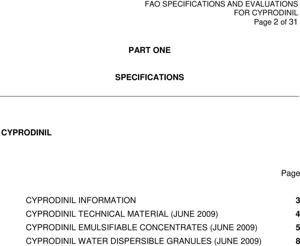 (JUNE 2009) 4 CYPRODINIL EMULSIFIABLE CONCENTRATES