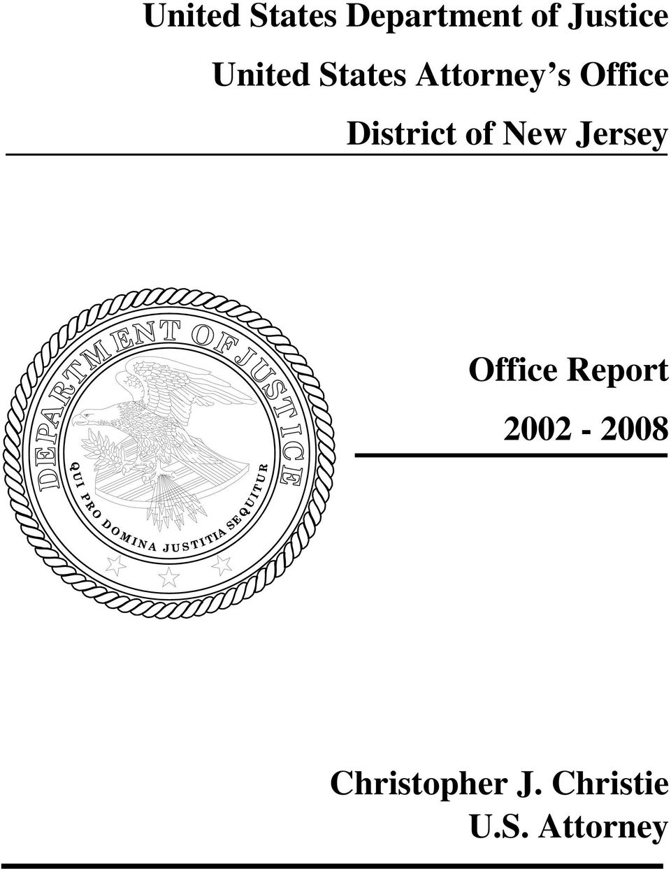 District of New Jersey Office Report