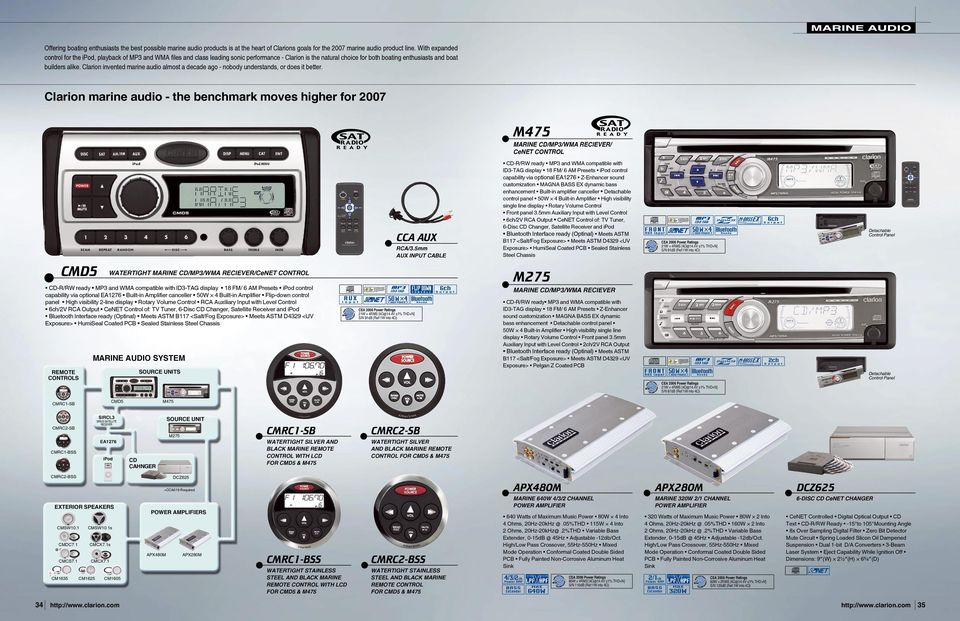 Clarion invented marine audio almost a decade ago - nobody understands, or does it better.