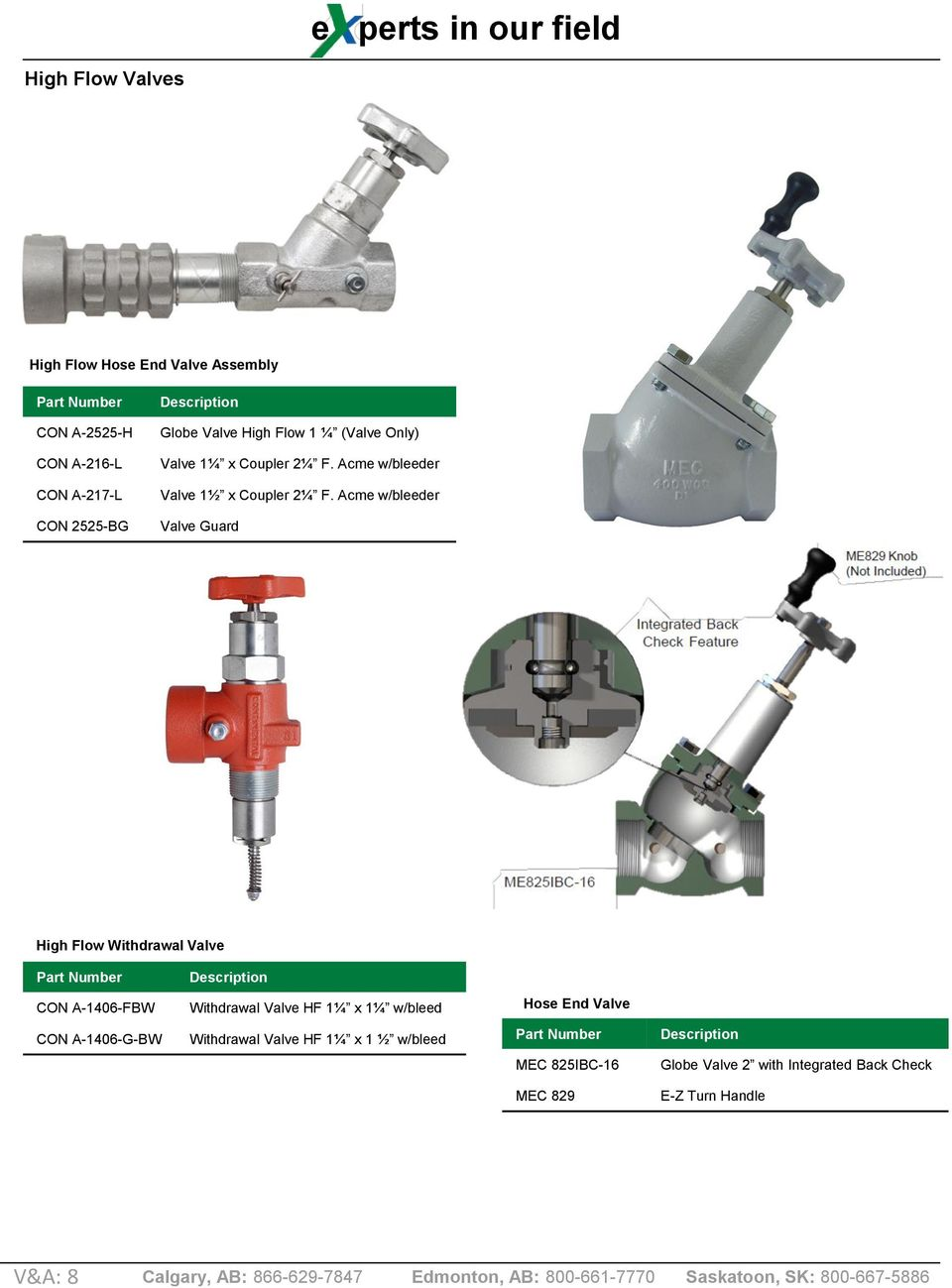 Acme w/bleeder Valve Guard High Flow Withdrawal Valve CON A-1406-FBW Withdrawal Valve HF 1¼ x 1¼ w/bleed Hose End
