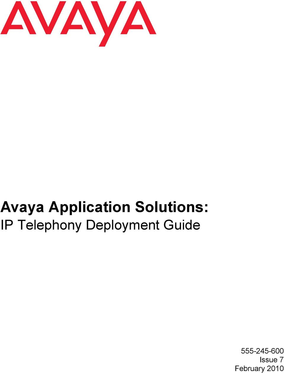 Telephony Deployment