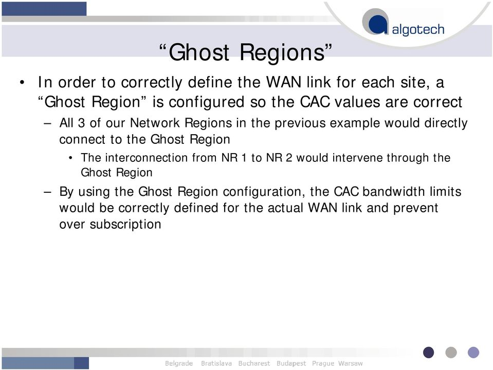 Region The interconnection from NR 1 to NR 2 would intervene through the Ghost Region By using the Ghost Region