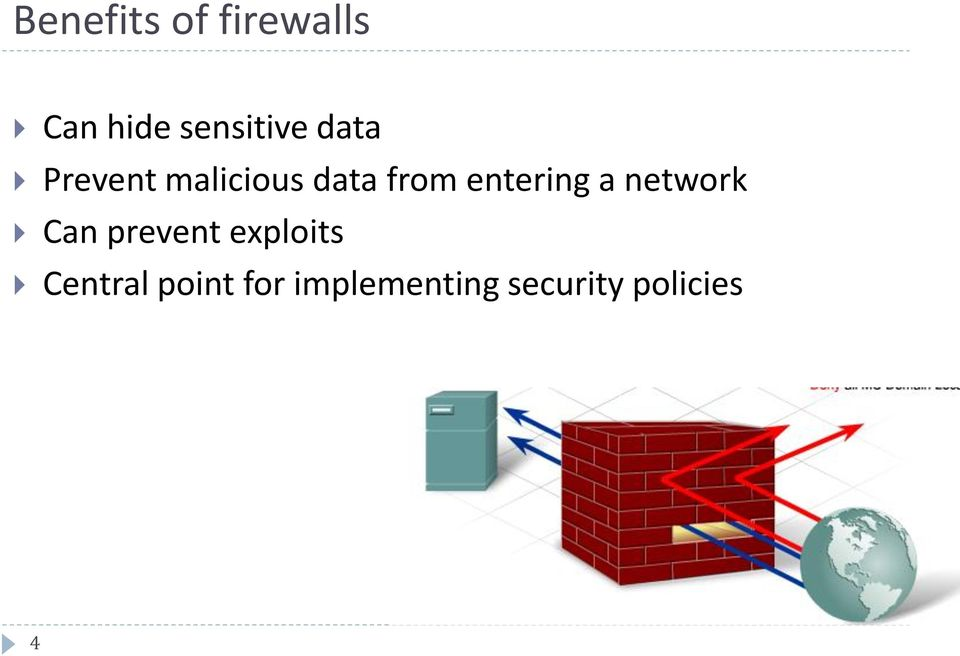 entering a network Can prevent exploits