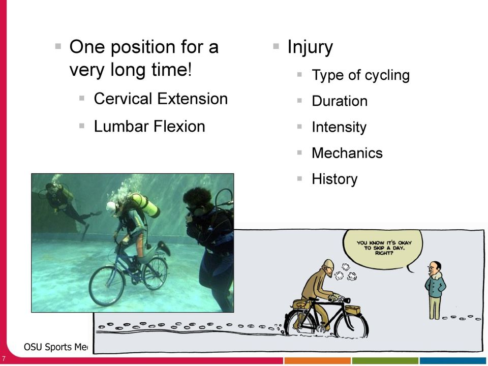 Flexion Injury Type of cycling