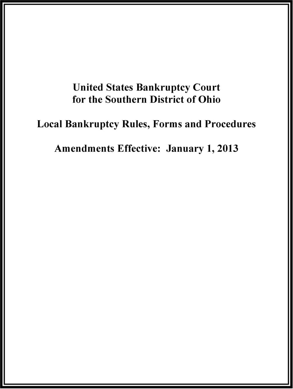 United states bankruptcy court for the southern district of ohio bankruptcy rules forms and altavistaventures Image collections