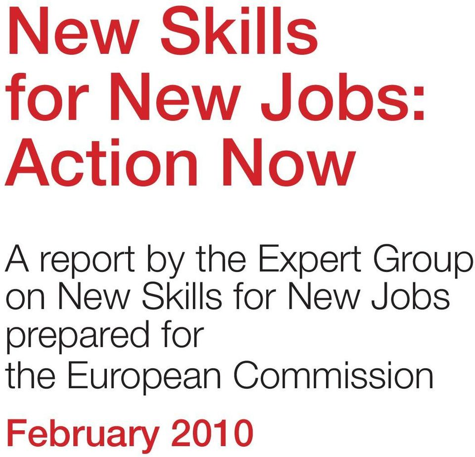 Skills for New Jobs prepared for