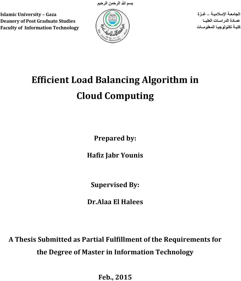 phd thesis on load balancing in cloud computing