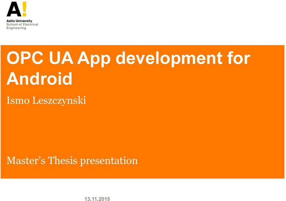 android application development thesis