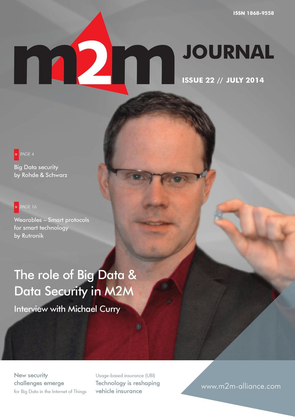 Security in M2M Interview with Michael Curry New security challenges emerge for Big Data in the