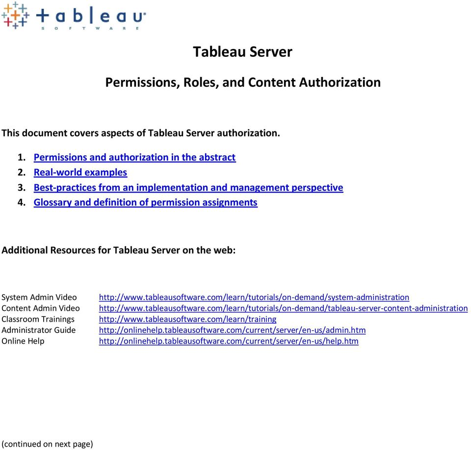 tableau server administration guide pdf