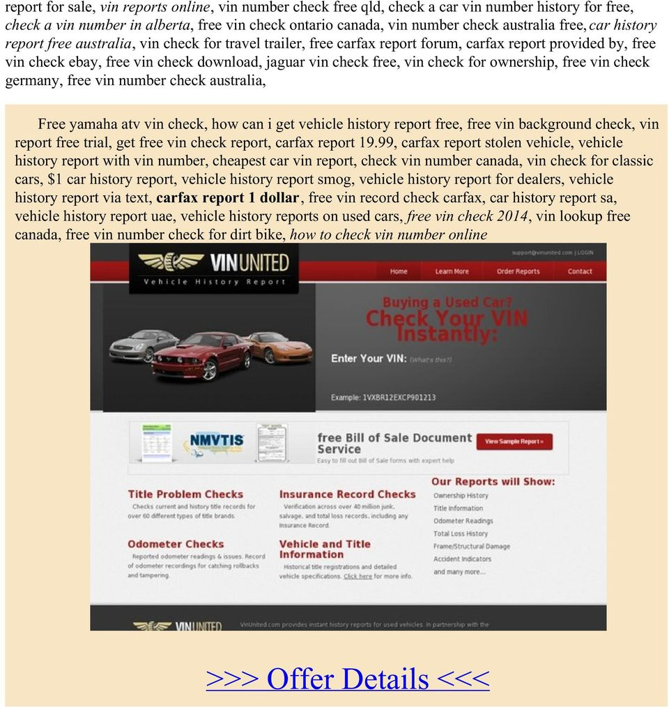 Additional information >>> HERE <<< Free vehicle owner history ...