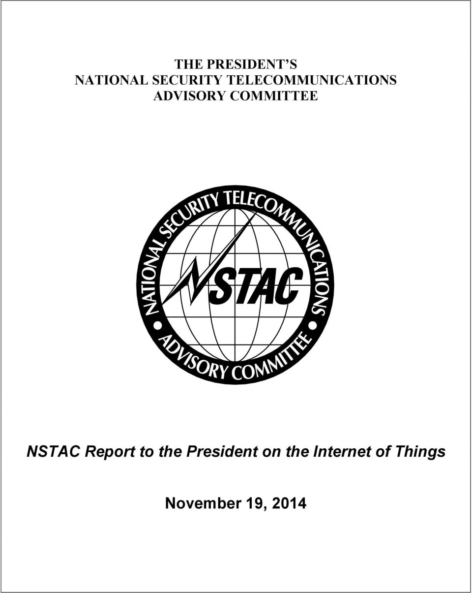 COMMITTEE NSTAC Report to the