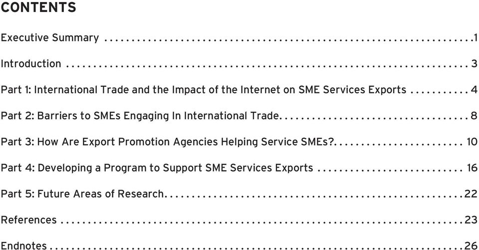 ..4 Part 2: Barriers to SMEs Engaging In International Trade.