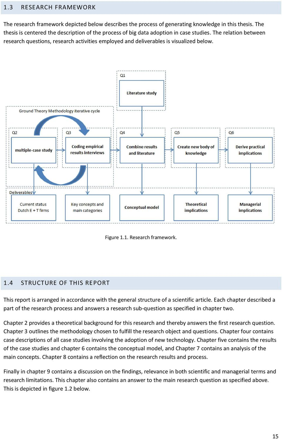 Figure 1.1. Research framework. 1.4 STRUCTURE OF THIS REPORT This report is arranged in accordance with the general structure of a scientific article.