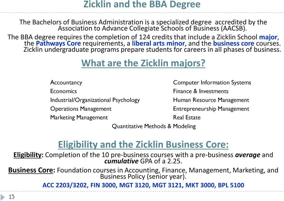 Zicklin undergraduate programs prepare students for careers in all phases of business. What are the Zicklin majors?