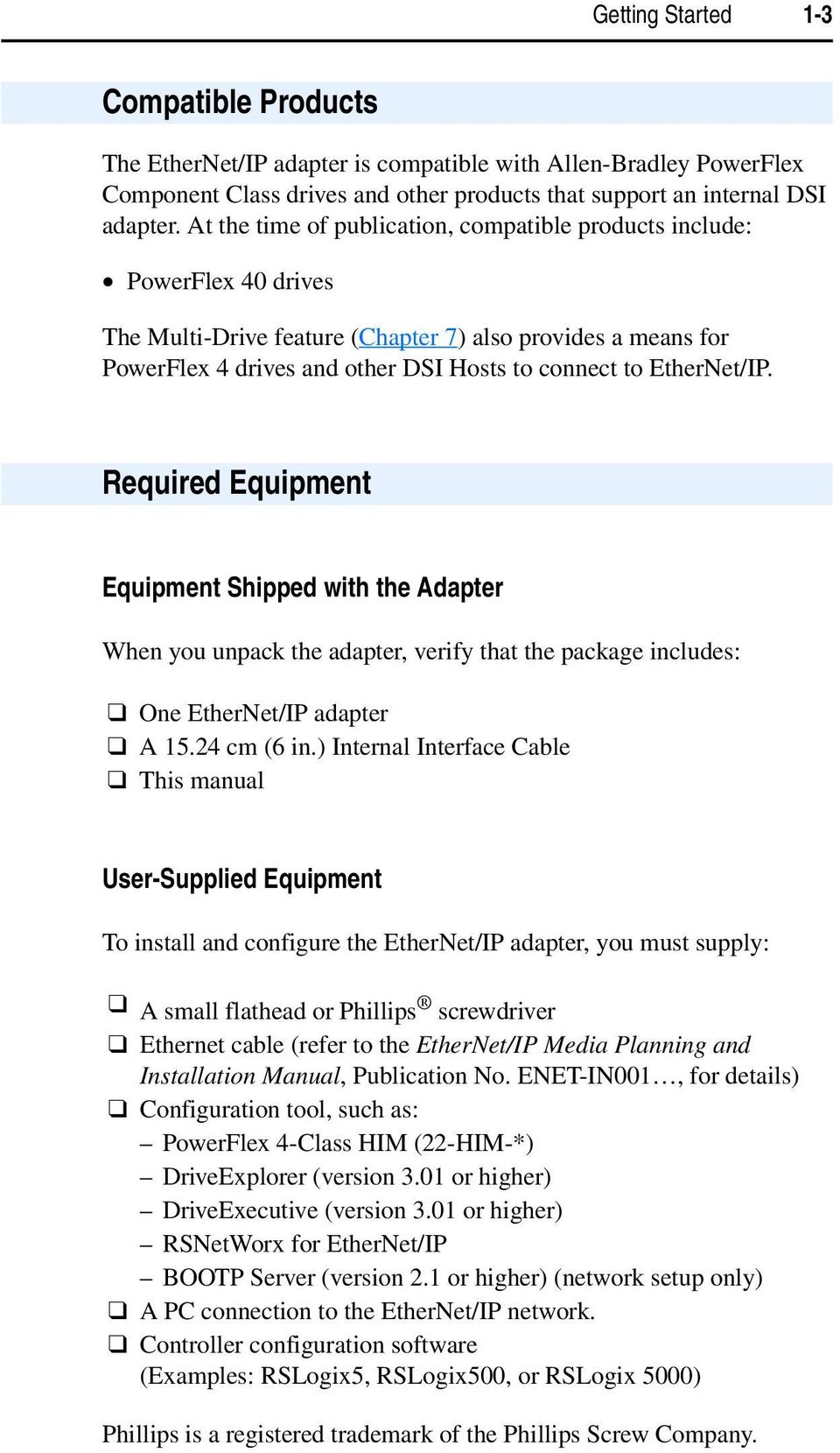 ethernet ip adapter 22 comm e frn 1 xxx user manual pdf ethernet ip required equipment equipment shipped the adapter when you unpack the adapter