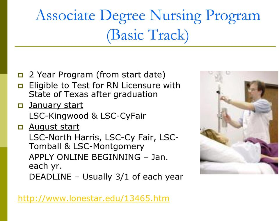 LSC-CyFair August start LSC-North Harris, LSC-Cy Fair, LSC- Tomball & LSC-Montgomery APPLY