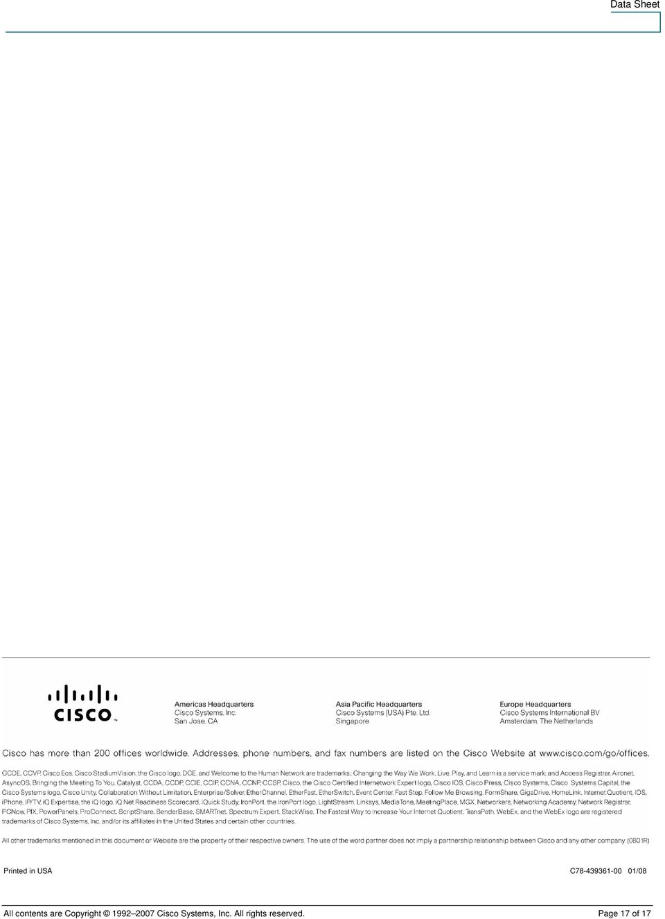 Copyright 1992 2007 Cisco