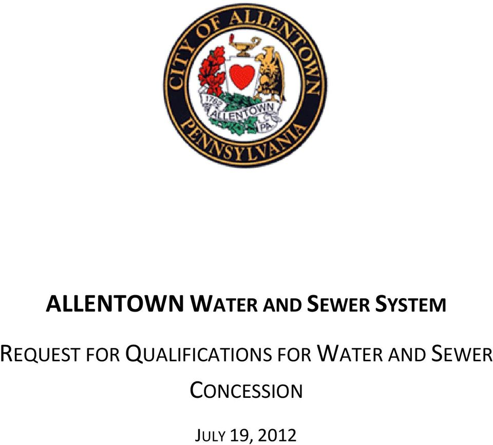 QUALIFICATIONS FOR WATER