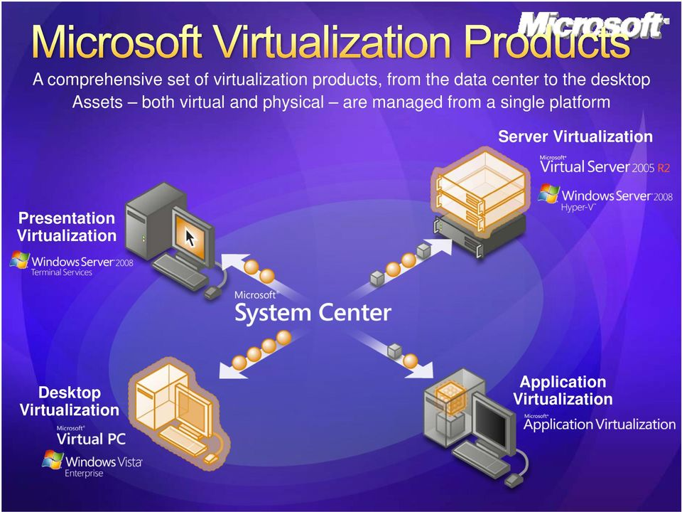 managed from a single platform Server Virtualization