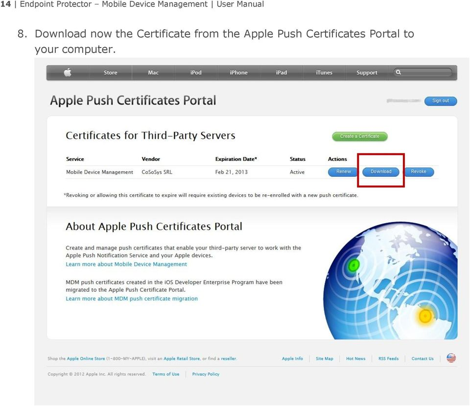 Download now the Certificate from