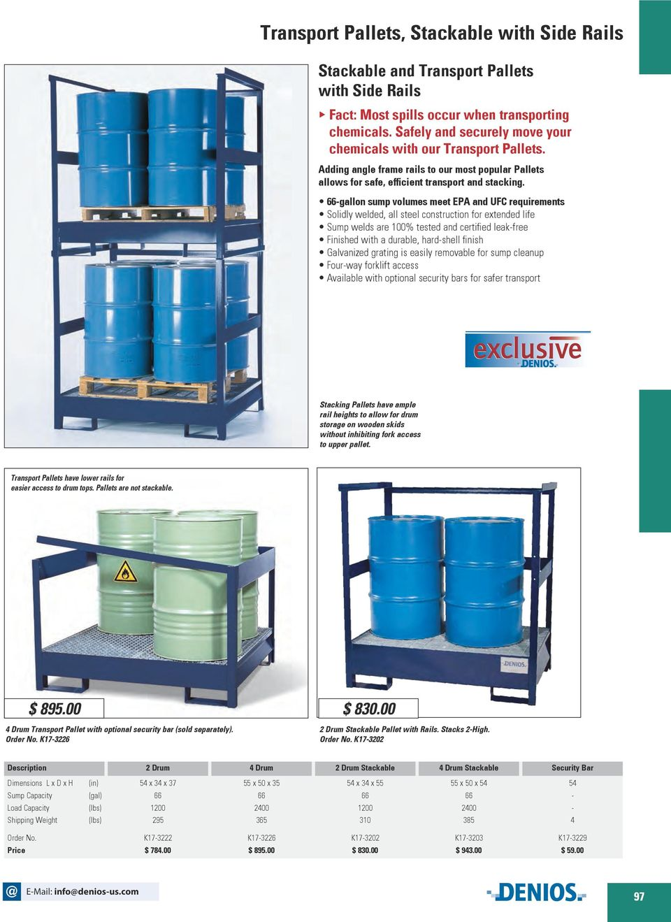 -gallon sump volumes meet EPA and UFC requirements Solidly welded, all steel construction for extended life Sump welds are 100% tested and certified leak-free Finished with a durable, hard-shell